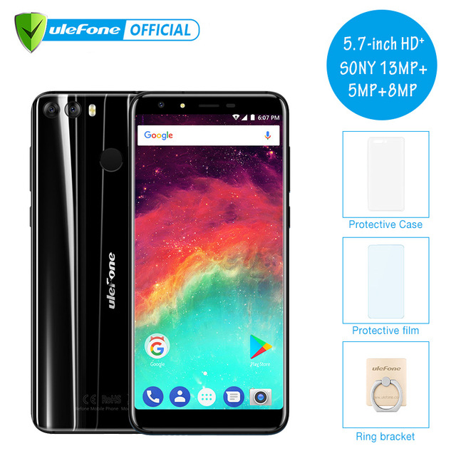 "Ulefone Mix 2 4G Mobile Phone 5.7"" HD+ MTK6737 Quad Core Android 7.0 2GB RAM 16GB ROM Fingerprint 13MP Dual Camera Cellphone"