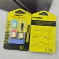 5 en 1 Tarjeta SIM Nano a Micro Adaptador Convertidor Estándar Del Metal Fijado Para iphone 4 4s 5 5c 5s 6 6 s samsung s6 s6 edge note 4