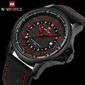 NAVIFORCE reloj Hombres Reloj de Cuarzo Correa de Cuero A Estrenar de Lujo Militar Reloj Masculino Relojes Deportivos Militar Relogio masculino