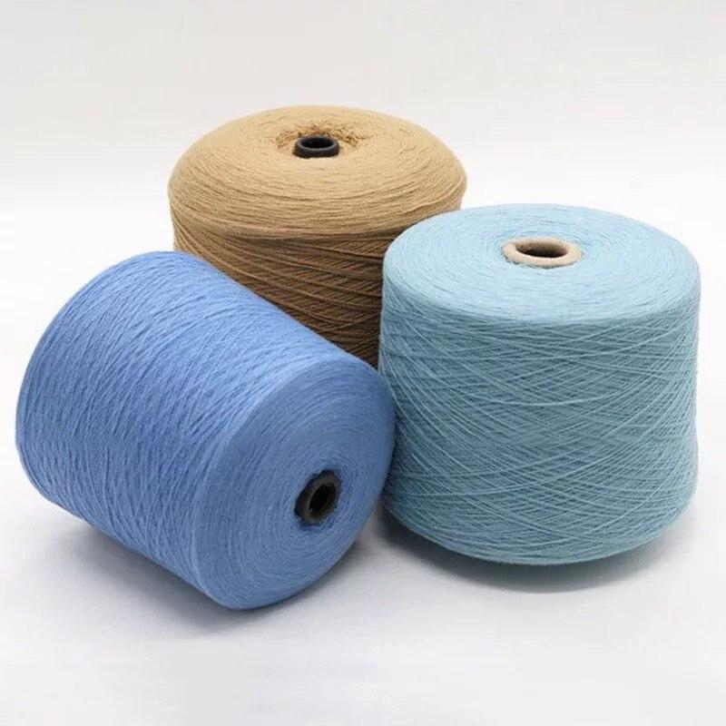 100% hilo de Merino para tejer ropa hilo 28 s/2 blanco gris negro colores respetuosos con el medio ambiente saludable 15 rollos pequeño al por mayor - 3