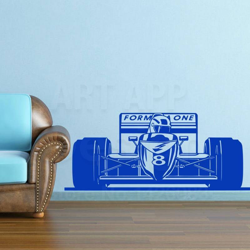Kunst Neue Design haus dekor Vinyl Formel rennwagen Wandtattoos ...