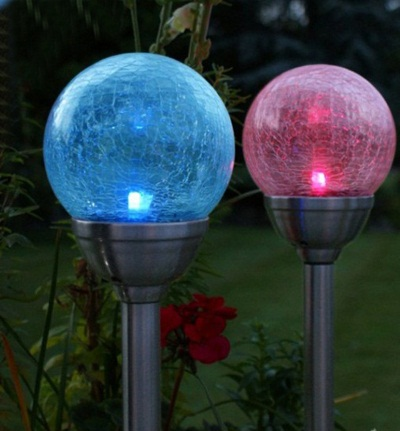 2pcs rgb ball lampada led solar light garden lamps outdoor lighting decoration lamparas energia. Black Bedroom Furniture Sets. Home Design Ideas