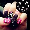 Clavo Que Estampa Las Placas de Halloween lindo Bowknot Skull Anchor Nail Art Sello Plantilla-QA5