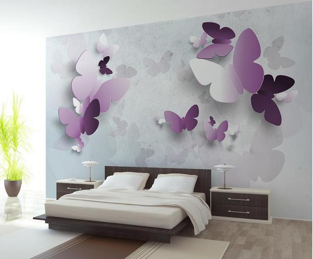 3d murals wallpaper for living room Abstract butterfly wall mural