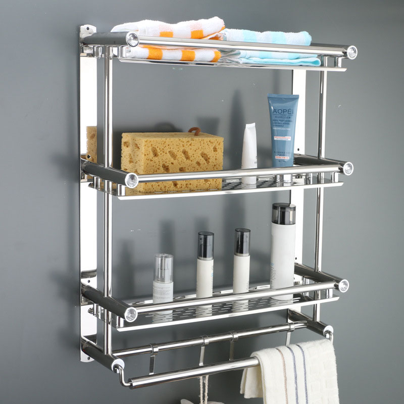 Stainless steel Toilet Bathroom Bathroom Toilet Towels rack holder wall-mounted compact for daily use Storage soap, sponge holde 2016 real toilet paper holder the airport train station public hotel bathroom stainless steel hand towels sassafras box frame