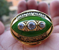Free Shipping 1967 GREEN BAY PACKERS SUPER BOWL II CHAMPIONSHIP RING WORLD CHAMPIONSHIP RING men ring high quality wholesale