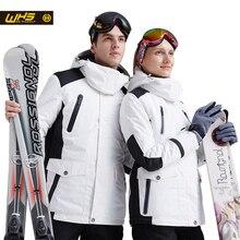 WHS New Couple Skiing Jacket Winter Outdoor Snow Cotton Sportswear women & men Warm Coat Waterproof and Windproof Jacket