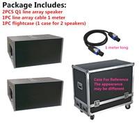 Professional Audio DJ Line Array Speaker Q1 2*10 For Stage Monitor Subwoofer Console Audio DJ Mixer Amplifier Peak Power 1600W
