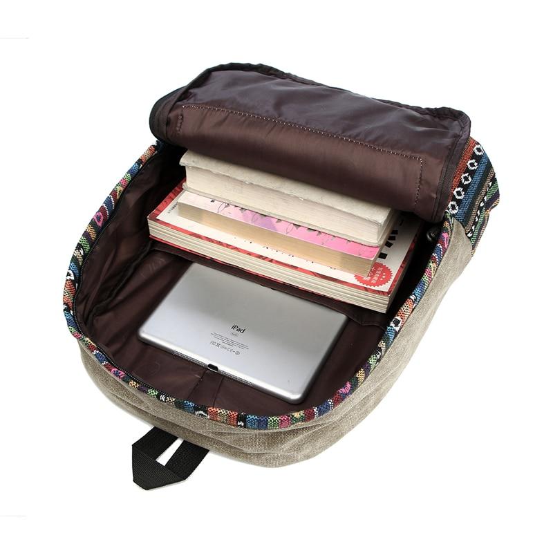 Vintage School Backpack Women Schoolbags For Teenager Girls Canvas Backpacks Student Book Bag National Mochila Bolsas De Saco #6