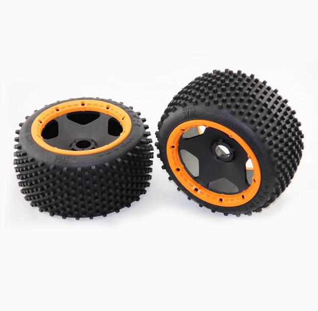ФОТО Free Shipping 1pair BAJA 5B standard rear tires wheels wheel 59008 Orange