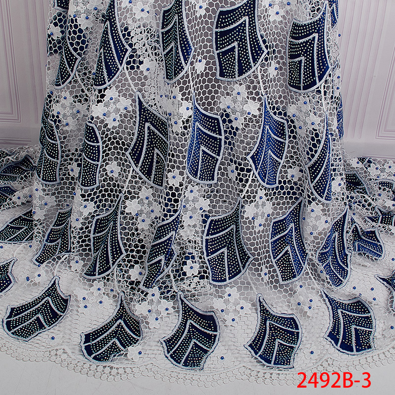 High Quality French Lace Fabric 2019 Latest African Guipure Lace Fabric with Embroidery Lace Fabrics for