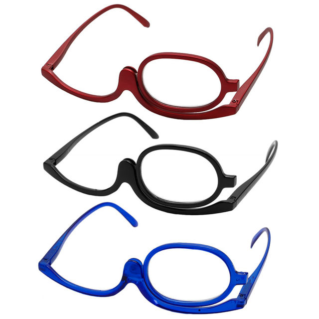 7e94c407fc5 Magnifying Glasses Makeup Reading Glass Folding Eyeglasses Cosmetic General  Red