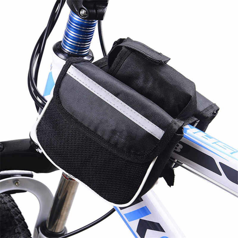 1PCS Bicycle Upper Tube Bag Bicycle Frame Item Placement Bag Bicycle Top Tube Saddle Bag  for Storing Small Objects Practial Bag