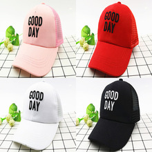 New Summer Childrens Baseball Caps Good Day Net Hat Cap Outdoor Shade For Children Boys And Girls Fashion