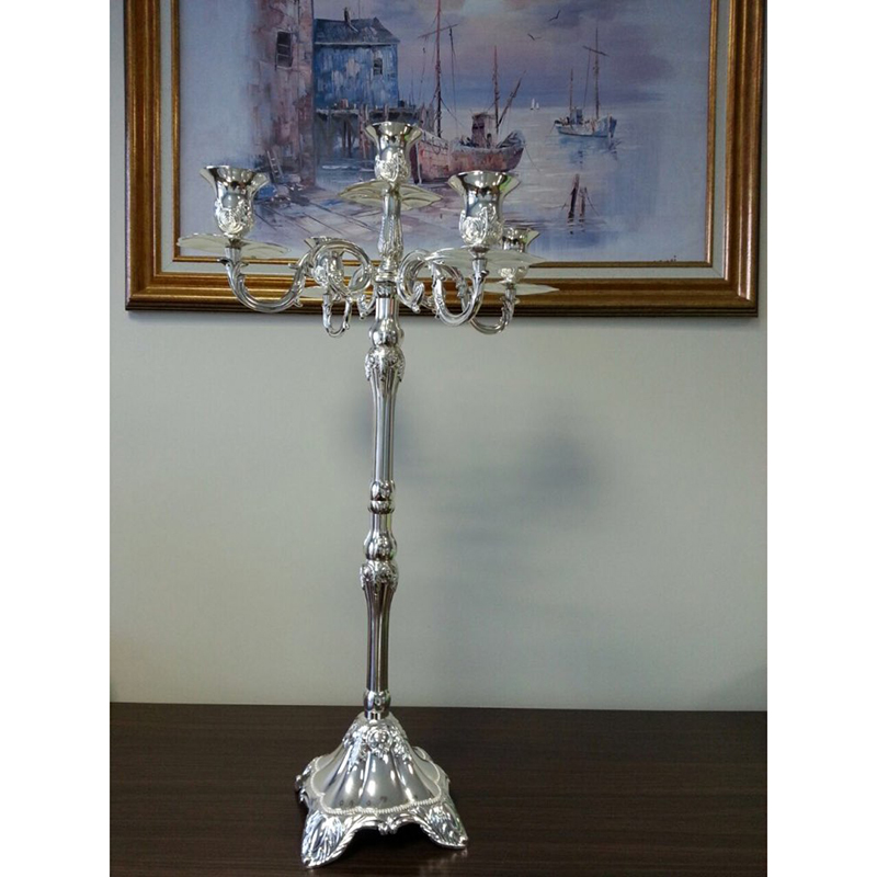 Peandim Silver Candelabra Party Wedding Decoration Ideas Candle Centerpieces 65cm Height Floor Standing Holders In From Home