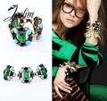 JOOLIM Jewelry Wholesale/Free Shipping 2013 New Fashion Luxurious Emerald Bracelet Design Jewelry