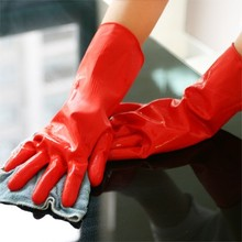 BF040 Home Natural latex household gloves Kitchen Gloves for Washing Cleaning 11 3cm free shipping