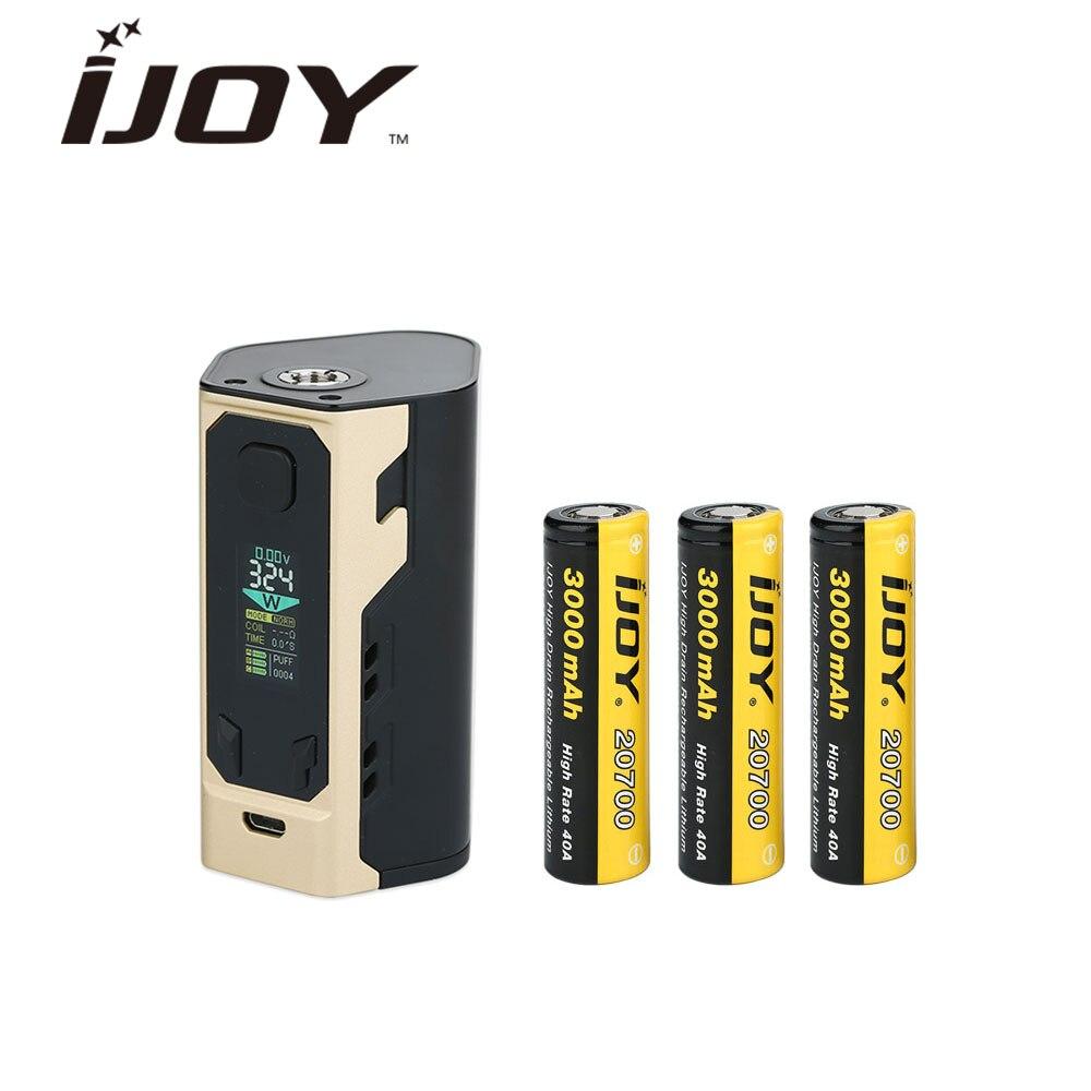 Original IJOY Captain X3 324 W 20700 TC MOD & grand écran OLED couleur & 9000 mAh batterie électronique Cigarette Vape boîte Mod Vs PD1865