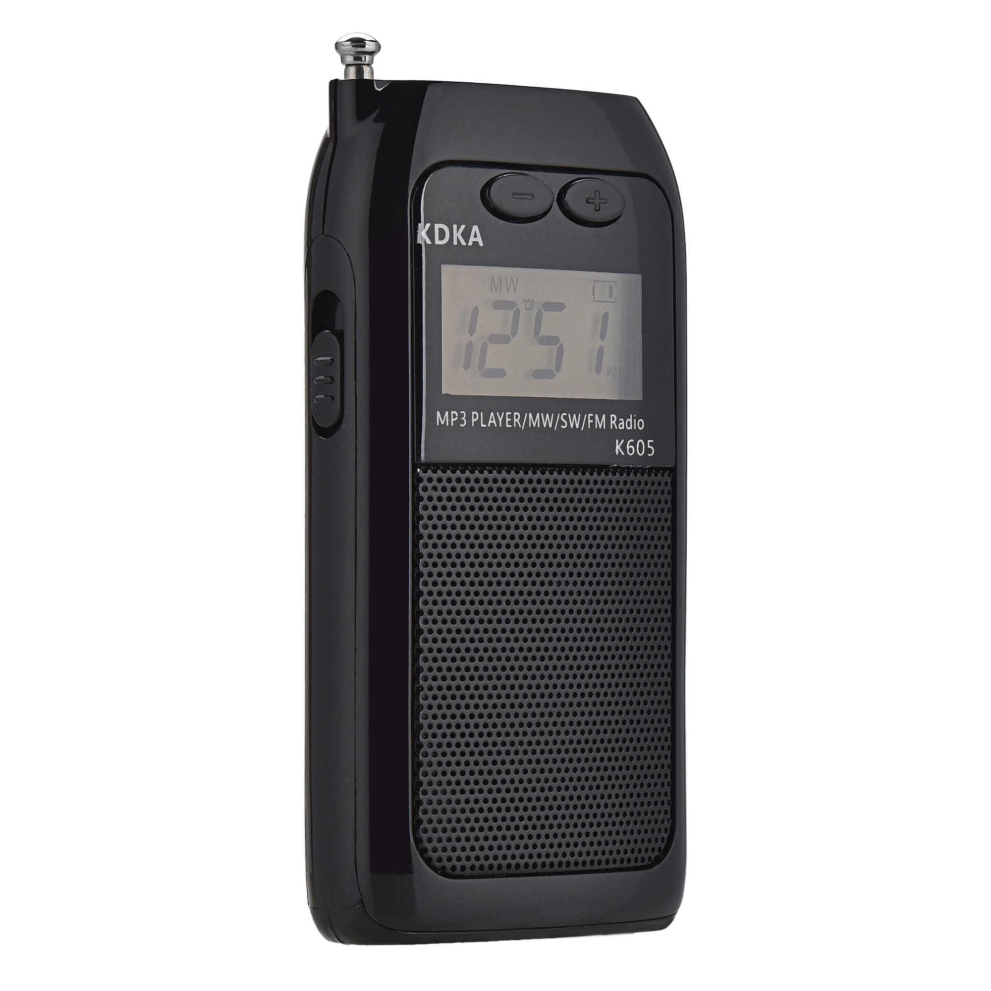 Mini Pocket Radio STEREO FM AM SW MW Sintonia Digitale Ricevitore Radio MP3 Giocatore di Musica Ricaricabile Batteria Radio Portatile