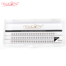 NEWCOME 2 cases,5D Lashes Individual Eyelashes 3D Volume Silk for Professional Makeup