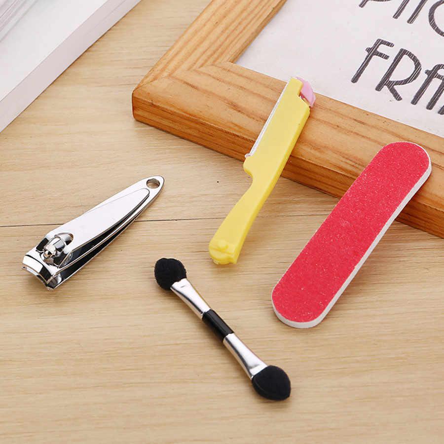 4 Pcs/set Cutter Kutikula Clipper Stainless Steel Manicure Pedicure Perawatan Kuku Kit Hadiah Case Kulit Mati Alat Kuku Clipper