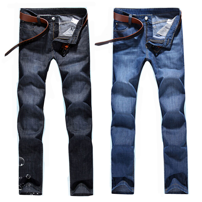 New 2017 High Quality Famous Brand Men Jeans Cotton Denim Jeans Casual Straight Washed Thin Light Summer Jeans Pants Size:28-38 sulee brand 2017 new fashion business men jeans cotton denim jeans casual straight washed pants stretch jeans plus size 28 40