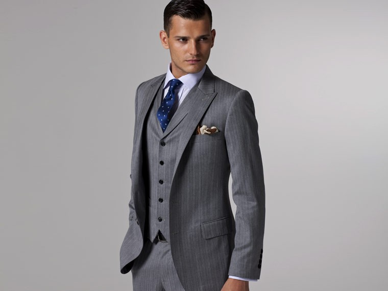 Aliexpress.com : Buy 2015 Gray Men Suit Tailor Made Single ...