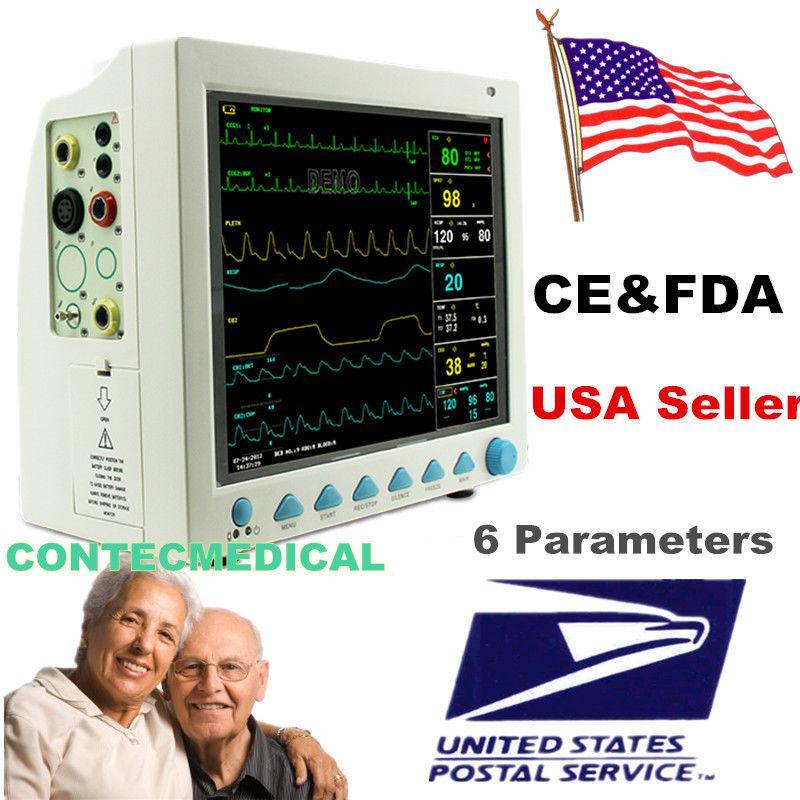 Venditore DEGLI STATI UNITI CMS8000 ICU Patient Monitor 6 parametro RESP TEMP Vital Sign ECG NIBP SPO2 Pr