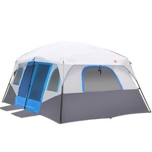 Image 2 - גדול משפחת קמפינג אוהלי בקתת חיצוני אוהל עבור 8 10 12 אדם אירוע Marquee אוהלי