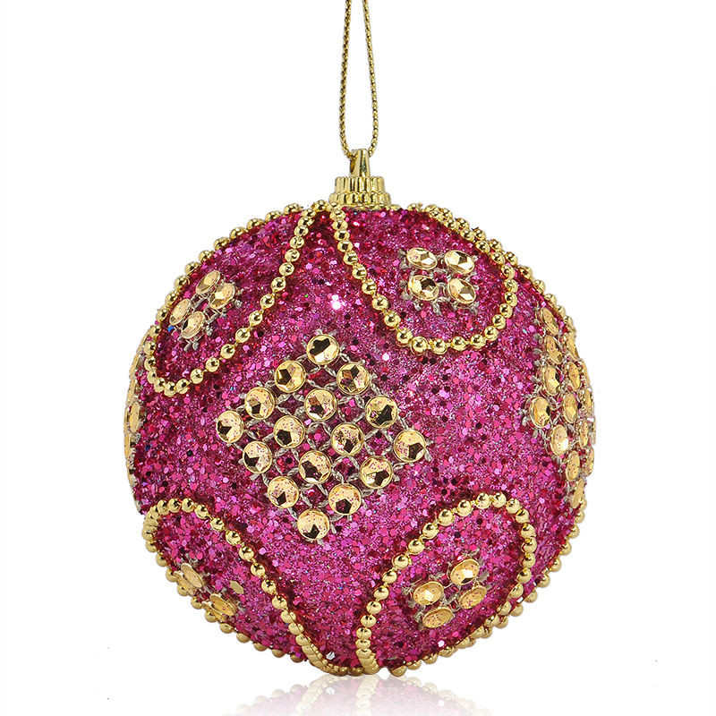 Christmas Rhinestone Glitter Baubles Balls Xmas Tree Ornaments christmas decorations enfeite de natal for home 2018 #2o26 (6)