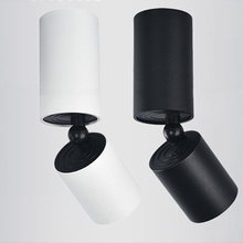 Modern LED spotlight 5w COB foyer aisle bedroom surface wall mounted black led lighting lampara ceiling lamp downlight