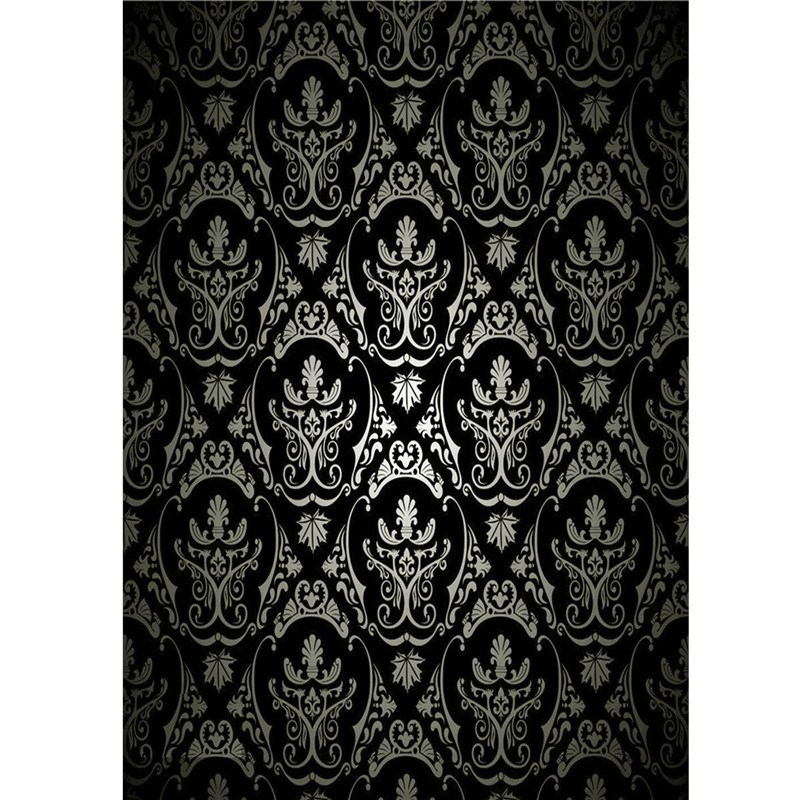 5x7FT Vinyl Photography Background Retro Damask Photographic Backdrop for Studio Photo Props Cloth Black 1.5mx2.1m natural landscape golden leaves vinyl digital cloth photographic backdrop for photo studio photography background props s 647