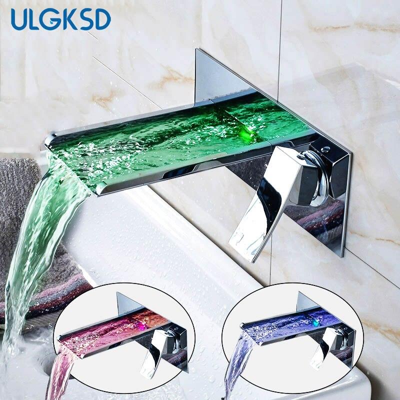 Ulgkad Смесители бассейна ванной смесители Chrome отделка умывальника ванной комнате раковина кран смесителя латунь Современная