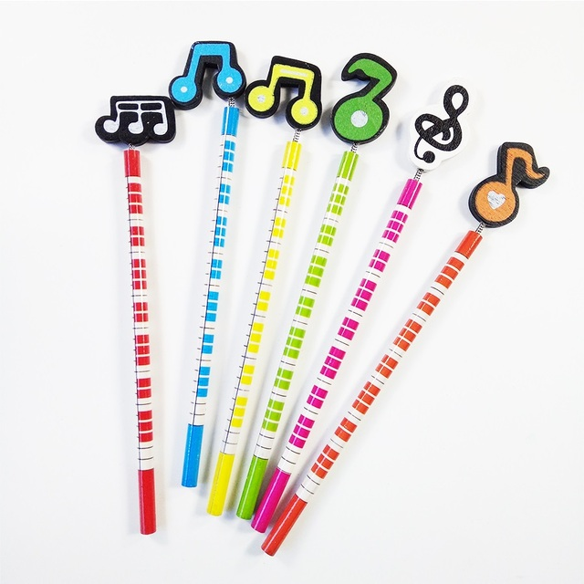 60 Pcs Lot Fancy Stationery Music Pencil Christmas Gift For Kids Office School Writing