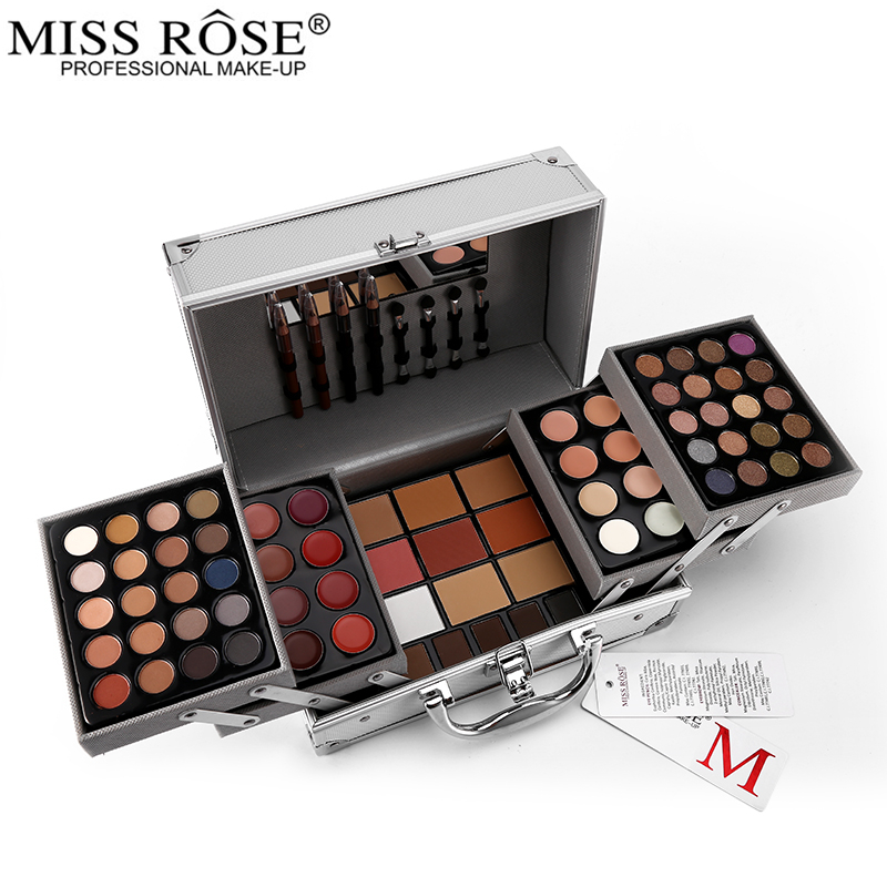 Miss Rose Palette di Trucco Set Matte Shimmer Ombretto In Polvere Per Viso Rossetto Blockbuster Professionale Make Up Kit Bronzer Blus