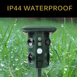 Image 3 - Zonne energie Animal Repeller Waterdichte Pir Sensor Outdoor Tuin Anti Kat Hond Usb Ultrasonics Solar Alarm Drive Repeller