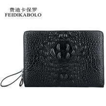 FEIDIKABOLO Wallet Male PU Leather Men's Wallets Clutch Bag Alligator Long Purses Business Large Capacity Wallet Phone Bag Man все цены