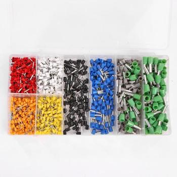 Electrical Splice Connectors | 1200pcs Electrical Wiring Connector Insulated Terminals + Quick Release Square Wire Ratchet Pliers