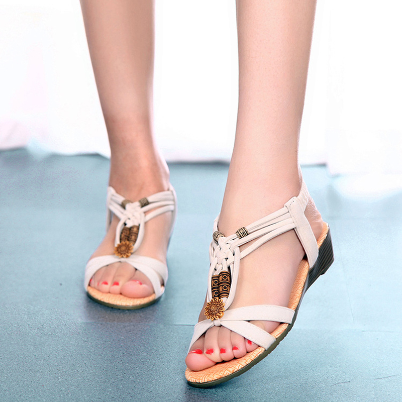 Model 2016 Bohemia Women Sandal Rhinestone Sandals Ladies Summer Shoes Women