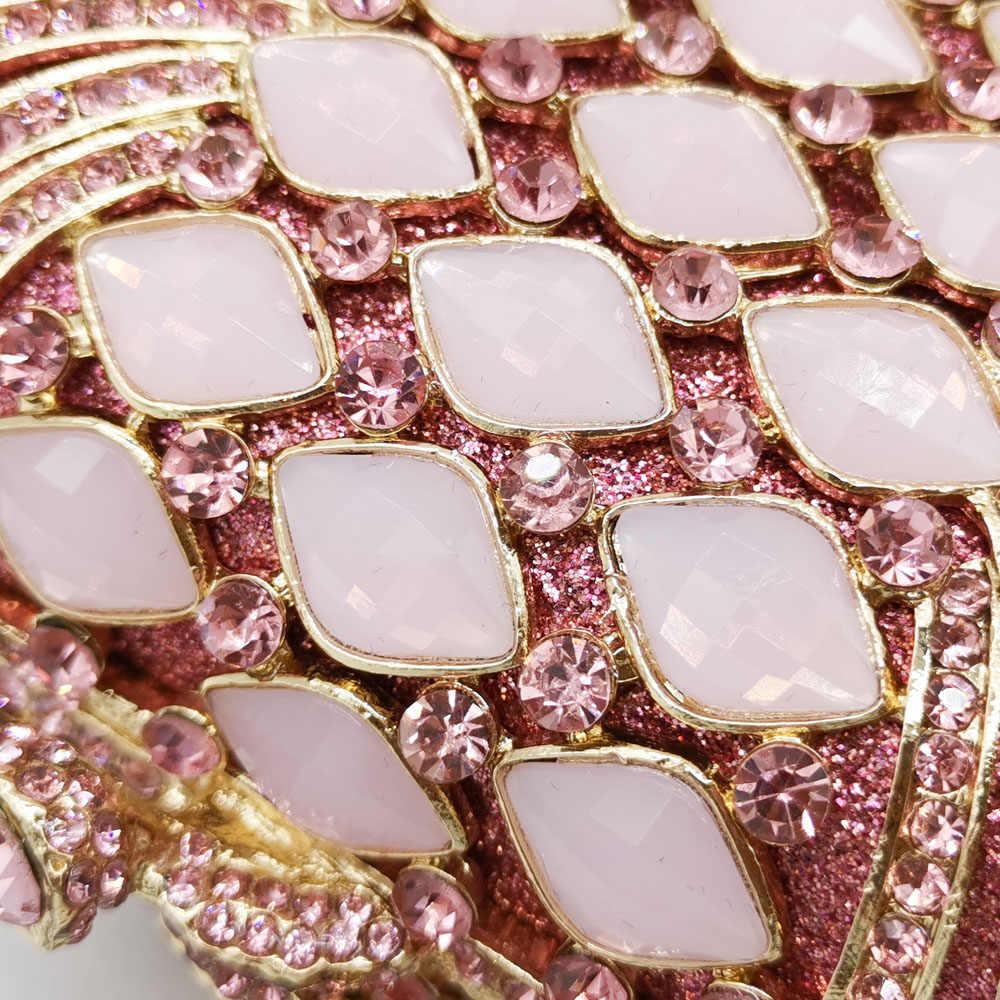 Boutique De FGG Rosa Diamant Frauen Abend Taschen Braut Kristall Kupplung Handtaschen und Geldbörsen Hochzeit Bankett Abendessen Schminktäschchen Tasche