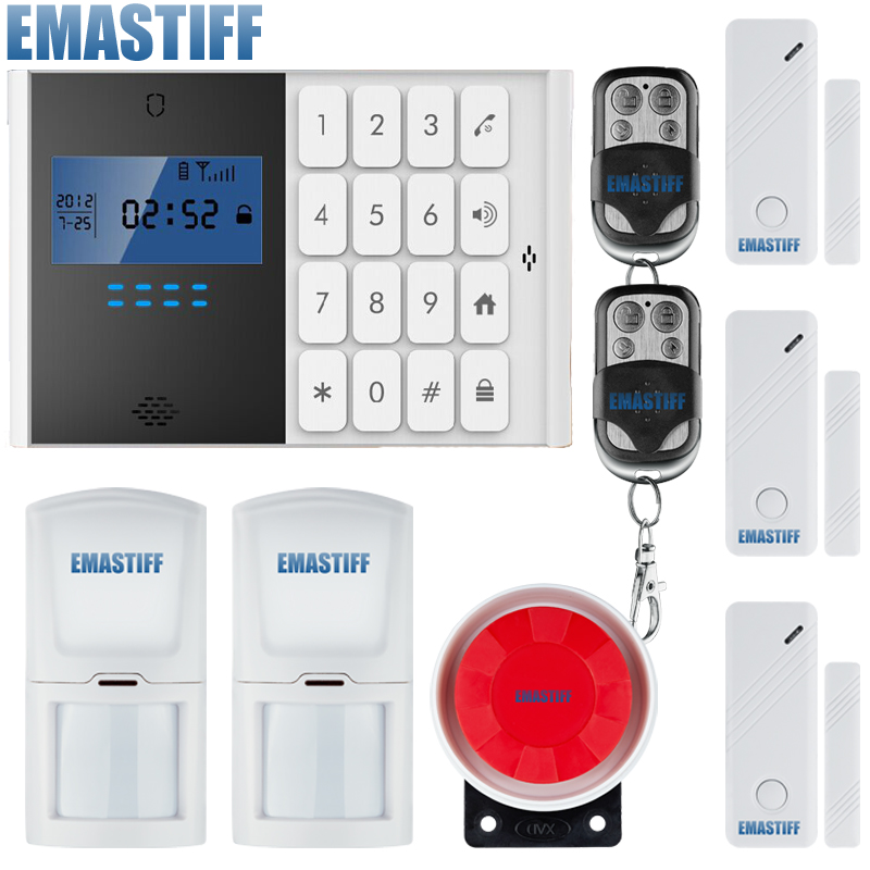 Wireless GSM Alarm System Home security System Tri-band 850/900/1800/1900MHz French, Spanish, English, Italian voice free shipping lcd dispaly home wireless gsm alarm system 850 900 1800 1900mhz