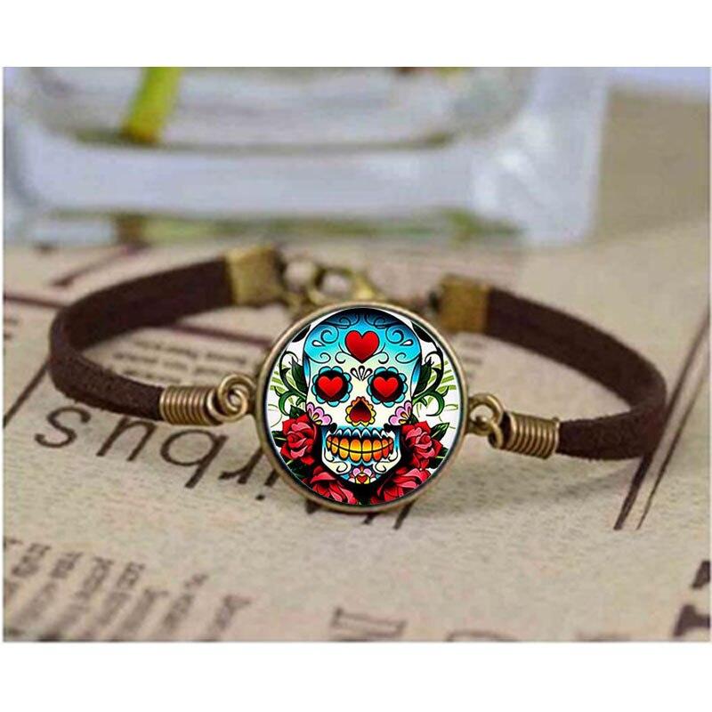 Dia de los Muertos Day of the Dead Skull Bracelet