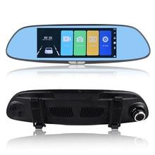Car DVR Dash Camera Mirror 7 Inch Touch Screen Full HD 1080P Dual Lens 170 Degree 12.0MP Microphone Auto Driving Recorder