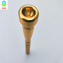 NEW Hot Sale 5C/ Ostrich Gold Plated Mouthpiece Trumpet Rich Tone Mouthpiece Replacement (5C) цена в Москве и Питере