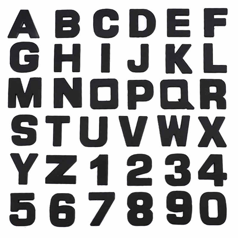 Auto 3D lettera Inglese lettere Car logo FAI DA TE alfanumerico metallo autoadesivi del corpo di parola mark coda argento Per BMW Per Audi per Ford