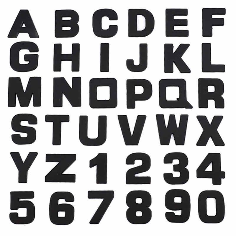 Mobil 3D Huruf Bahasa Inggris Huruf Logo Mobil DIY Alfanumerik Logam Tubuh Stiker Tanda Kata Ekor Perak untuk BMW untuk untuk
