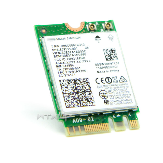 online shop wireless adapter card for intel 3168ngw dual band wifi