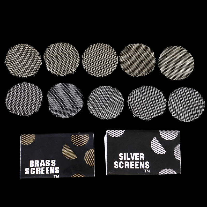 100pcs Silver Pipe Screens For Metal Glass Wooden Acrylic Water Smoking Tobacco Pipe Filters for Shisha/Hookah/Chicha/Narguile