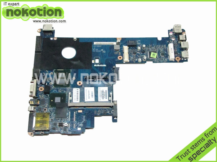 Laptop Motherboard for HP ELITEBOOK 2540P 598764-001 LA-5251P i5-540M QM57 GMA HD DDR3 Main Board