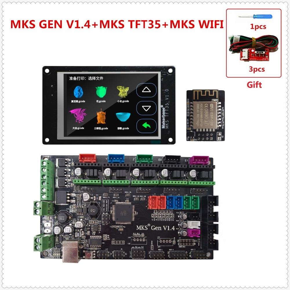 MKS GEN V1.4 carte mère MKS TFT35 écran tactile écran couleur MKS TFT module WIFI 3D imprimante unité de contrôle bricolage démarreur kits